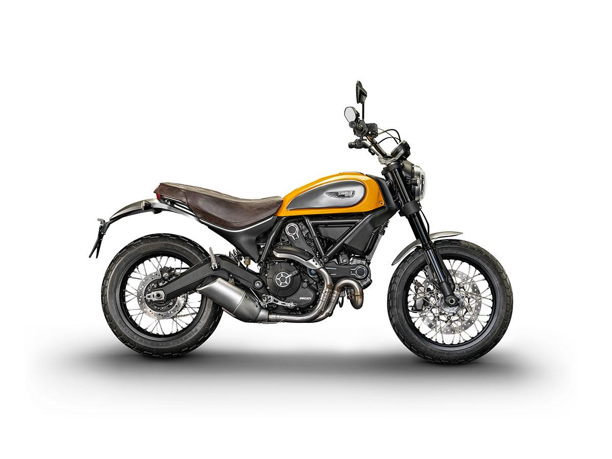 """Le Scrambler Ducati en version """"Classic"""". Il plaira au genre BCBG."""