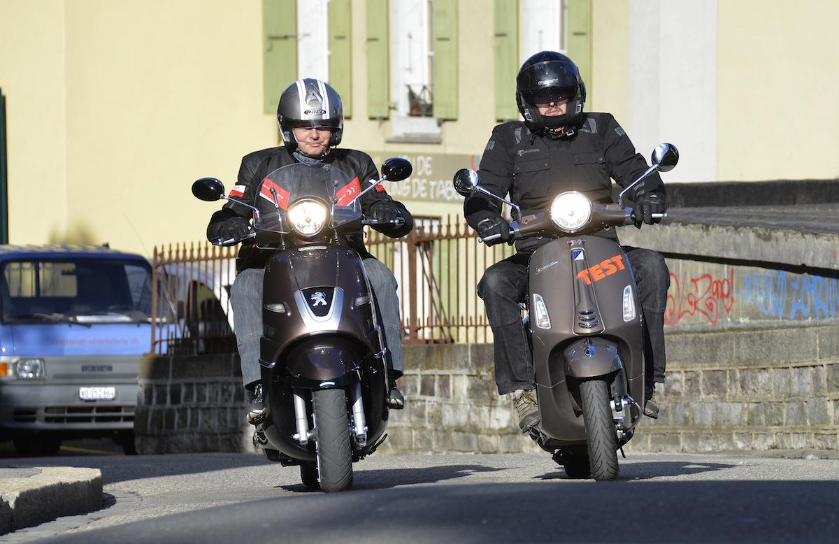 Django à gauche, Vespa à droite!