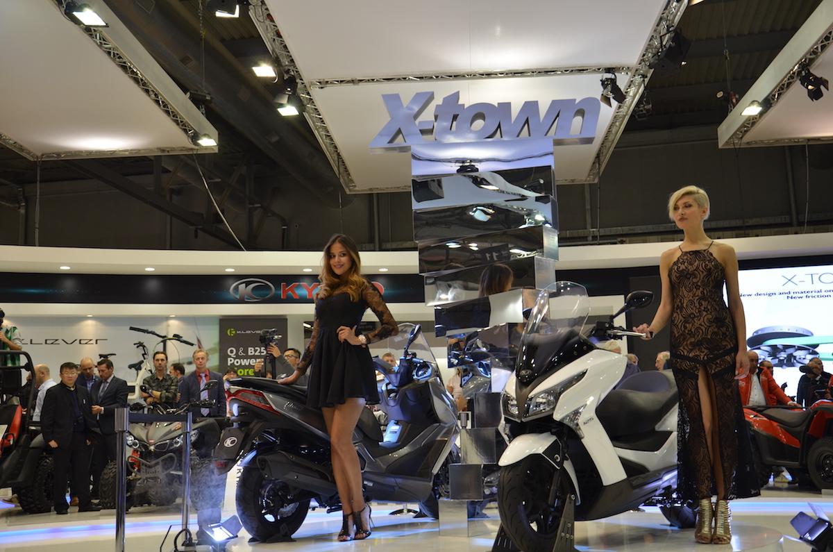 Les X-Tpwn sur le stand Kymco à Milan.