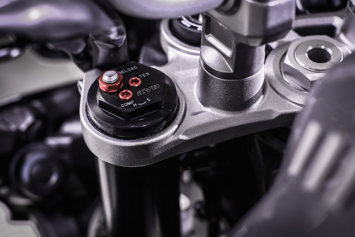 Les suspensions de la Yamaha MT-10