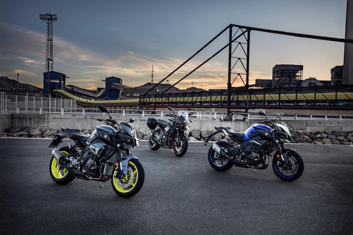 Les trois couleurs de la Yamaha MT-10
