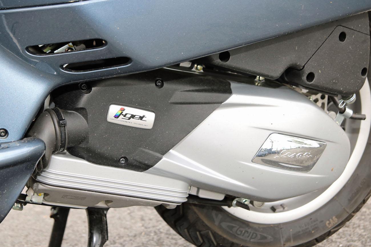 Le nouveau moteur iGet avec sa transmission à courroie automatique.