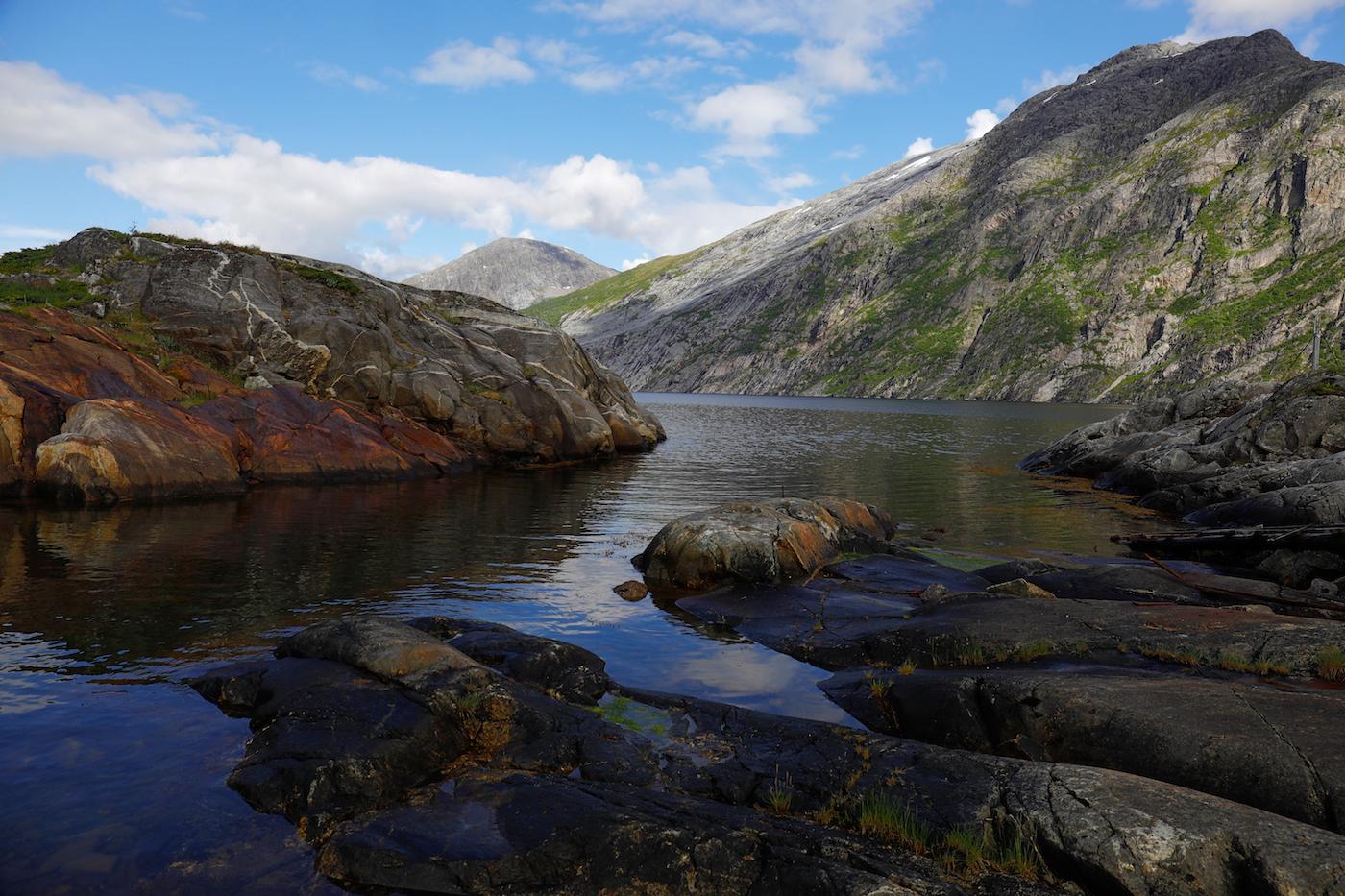 Paysage côtier à craquer, près de Bronnoysund.
