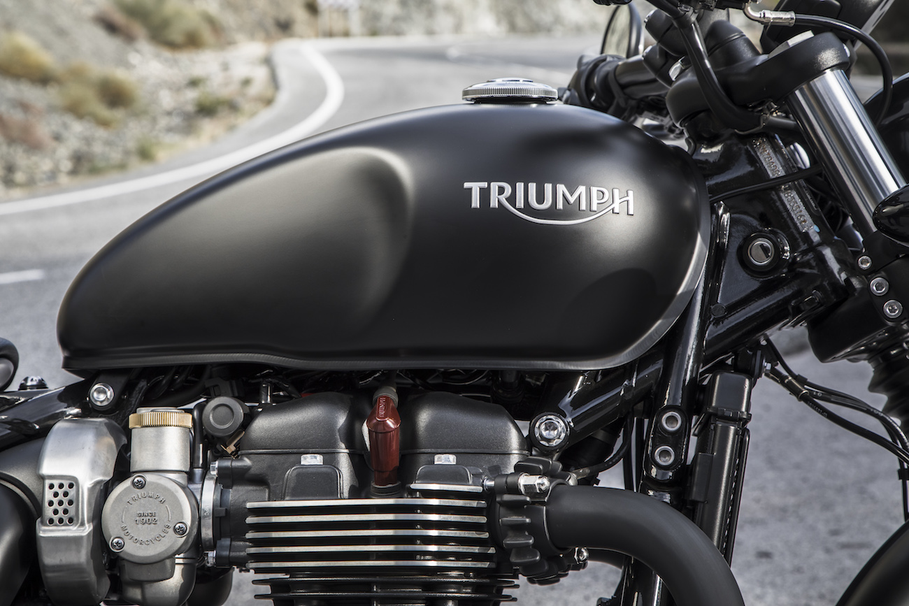 2017 Triumph Bonnerville Bobber Press Launch - Málaga Worldwide Copyright: ©Triumph