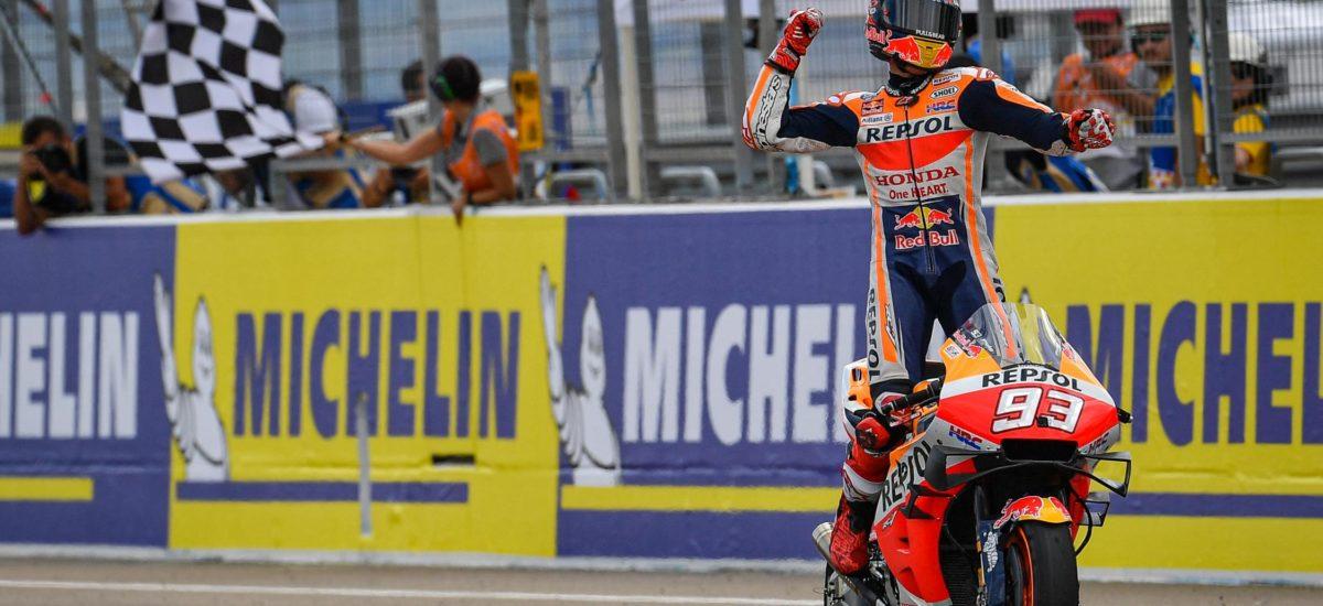 Marc Marquez se rapproche du titre en s'imposant encore une fois à Aragon