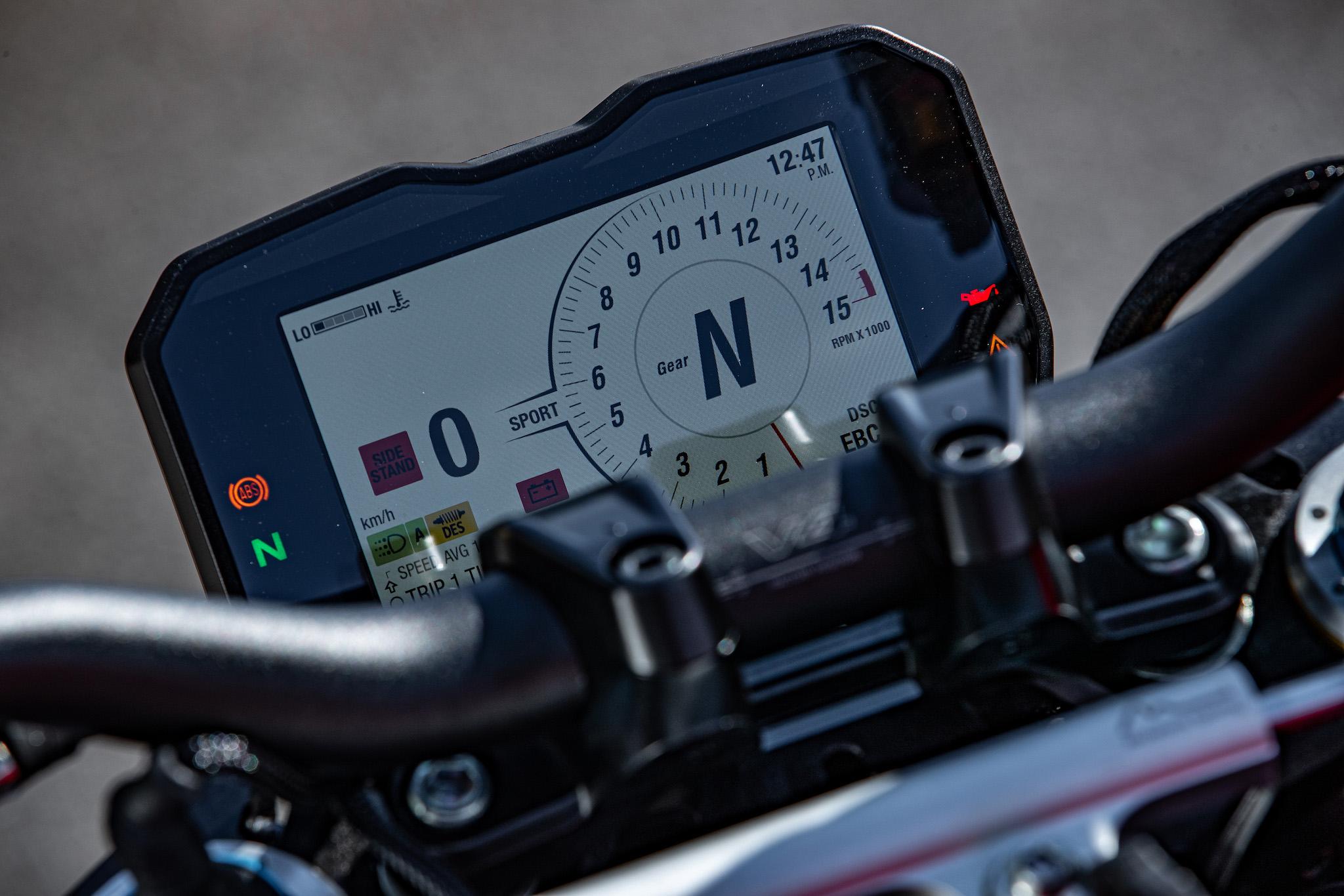 tableau de bord Ducati