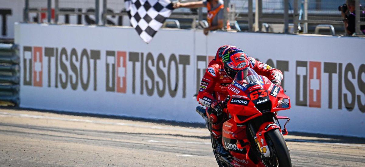 Pecco Bagnaia remporte sa première victoire en MotoGP à Aragon!
