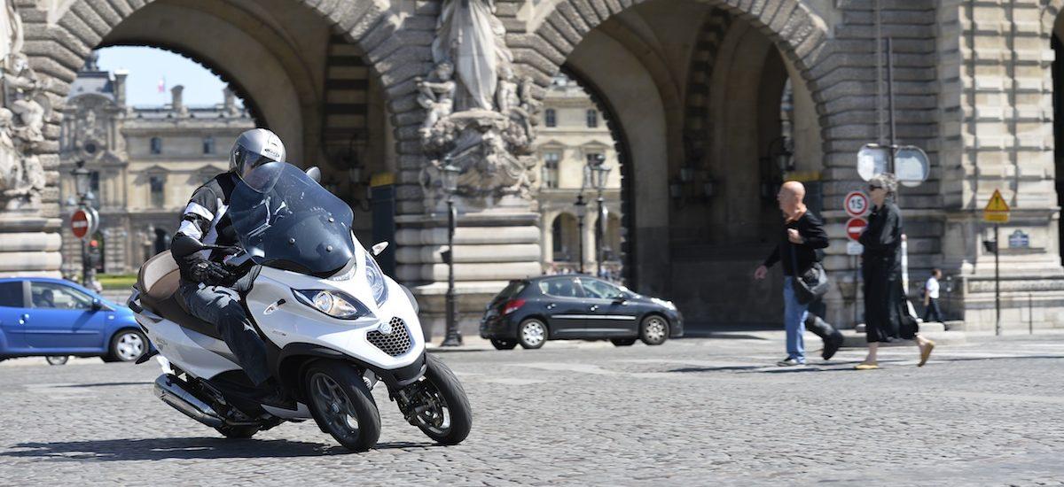 Le MP3, trois-roues fétiche de Piaggio, continue sa révolution