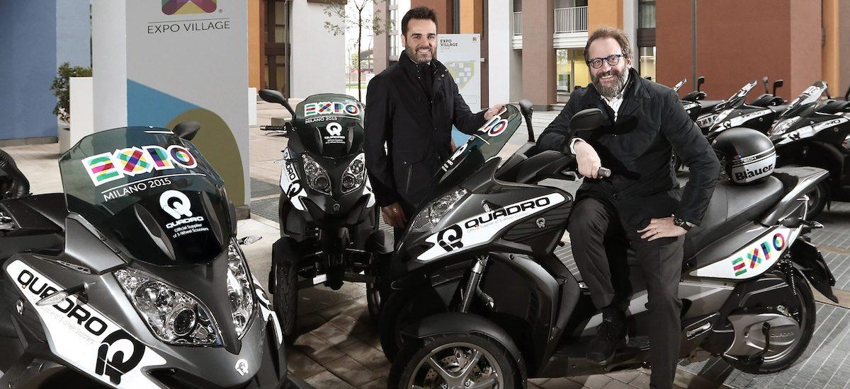 Quadro est le trois-roues officiel de l'Expo 2015 universelle de Milan