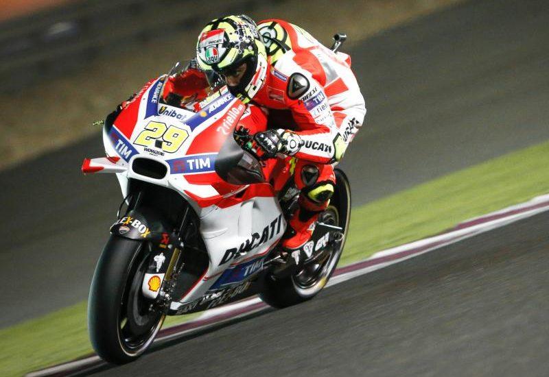C'est Iannone et sa Ducati qui se profilent pour la pole de la première course de MotoGP