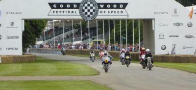 Les deux-roues aussi paradent sur le gazon anglais :: Goodwood Festival of Speed