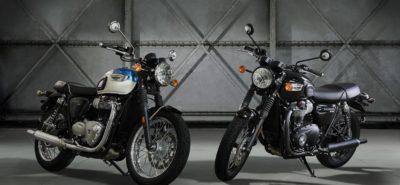 De nouvelles Triumph Bonneville sur base Street Twin, la T 100 et la T 100 Black :: Nouveauté 2017