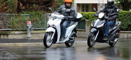 Honda Sh 125 Contre Piaggio Medley 125 Duel En Roue Haute