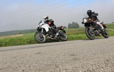 L'Autrichienne baroudeuse (1090 Adventure) contre l'Italienne bon chic bon genre (Multistrada 950) :: Comparo KTM - Ducati