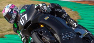 Le Suisse Jesko Raffin teste la future machine Kalex avec moteur Triumph :: mondial Moto2