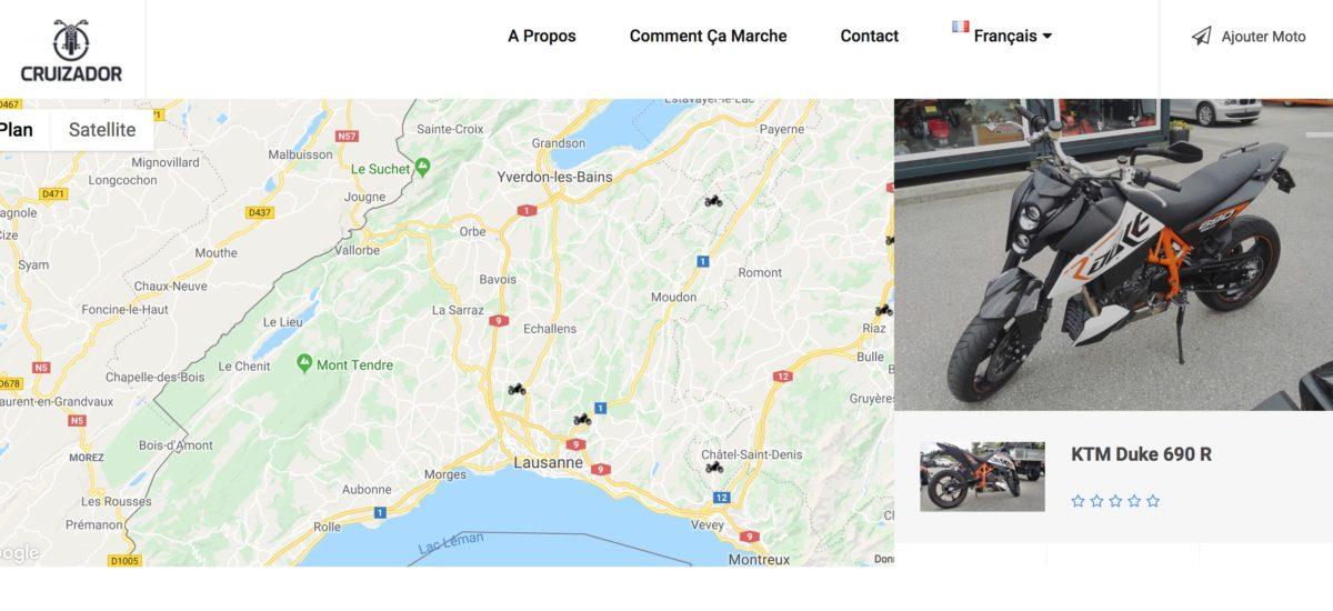 Voici cruizador.com, ou l'airbnb de la moto