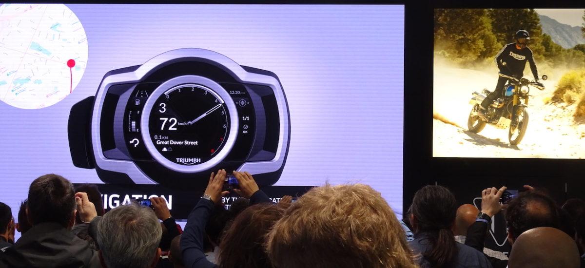 La connectivité arrive sur les motos Triumph équipées d'un écran couleur