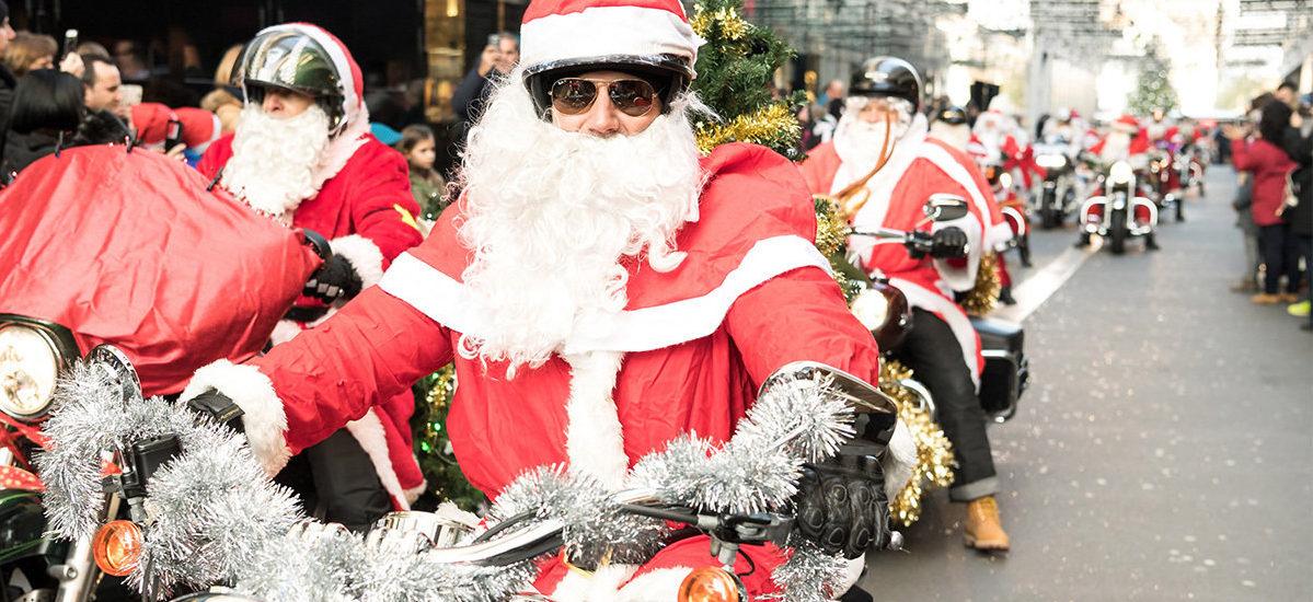 Les Pères Noël en Harley ont roulé pour une action caritative