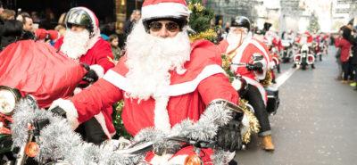 Les Pères Noël en Harley ont roulé pour une action caritative :: Opération caritative