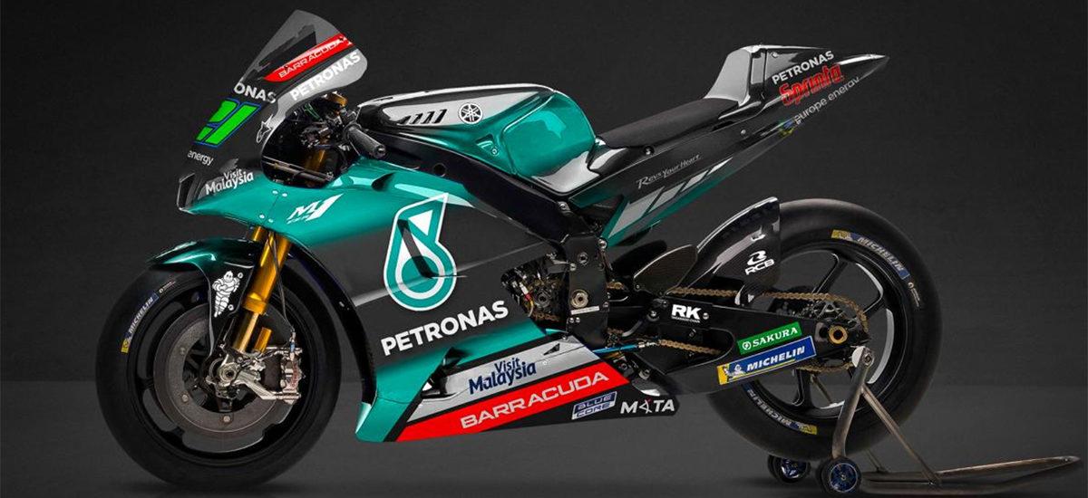 Le team SRT (Sepang Racing Team) Yamaha s'habille de noir et turquoise