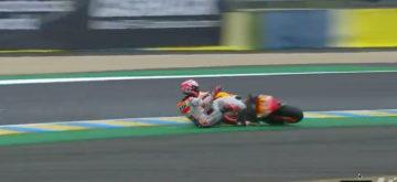 Marquez: une pole position en jouant avec la pluie et la piste