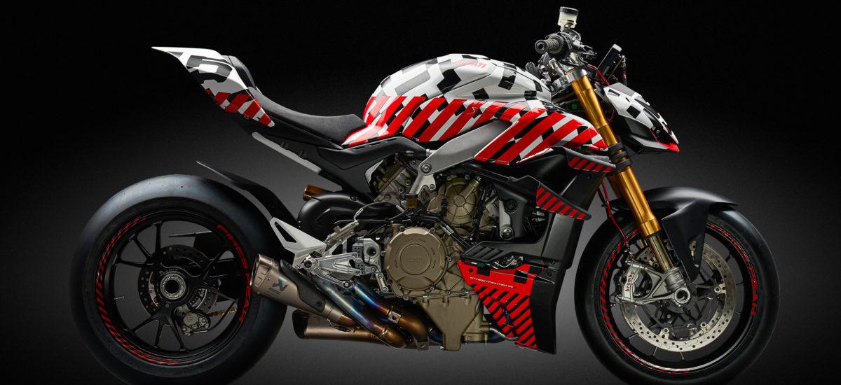 Le proto de la future Ducati Streetfighter V4 en course à Pikes Peak