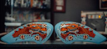 Les Indian FTR 1200 embellies par des artistes