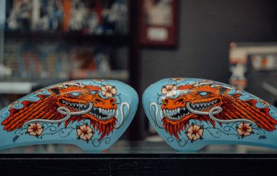 Les Indian FTR 1200 embellies par des artistes :: Festival Wheels and Waves