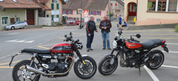 Triumph Speed Twin contre Kawasaki Z 900 RS