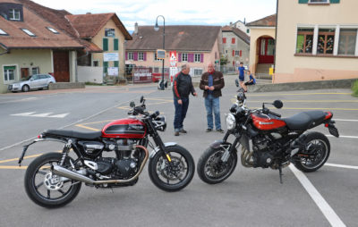 Triumph Speed Twin contre Kawasaki Z 900 RS :: Comparo