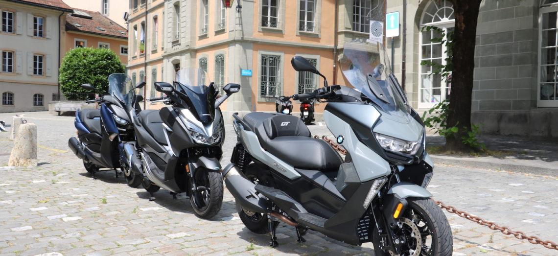 BMW contre Honda et Yamaha: les maxis (mais pas trop) s'affrontent