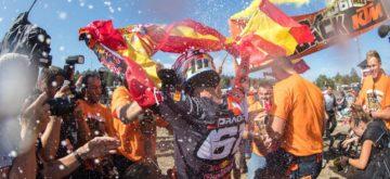 Jorge Prado est champion du monde MX2 et passera en MXGP