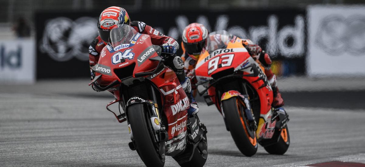 Andrea Dovizioso bat Marquez dans le dernier virage du Grand Prix d'Autriche