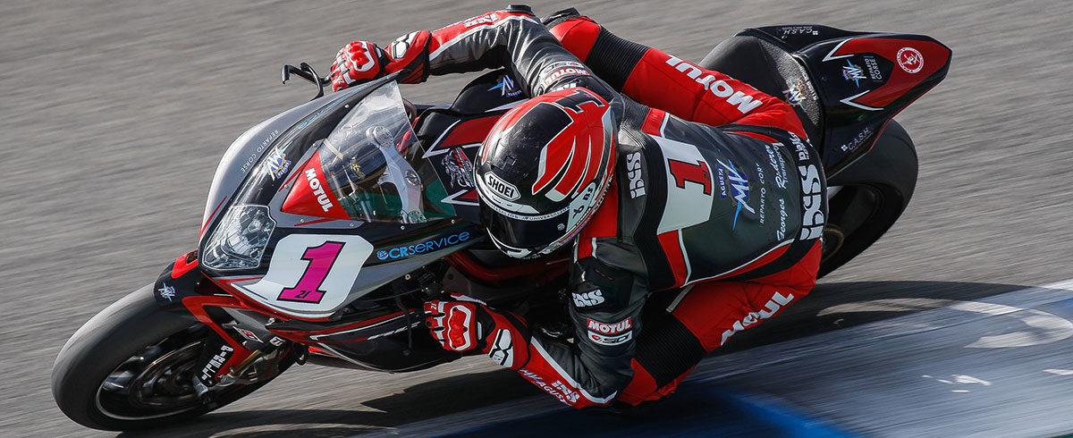 Randy Krummenacher en tête à Jerez avec sa MV Agusta