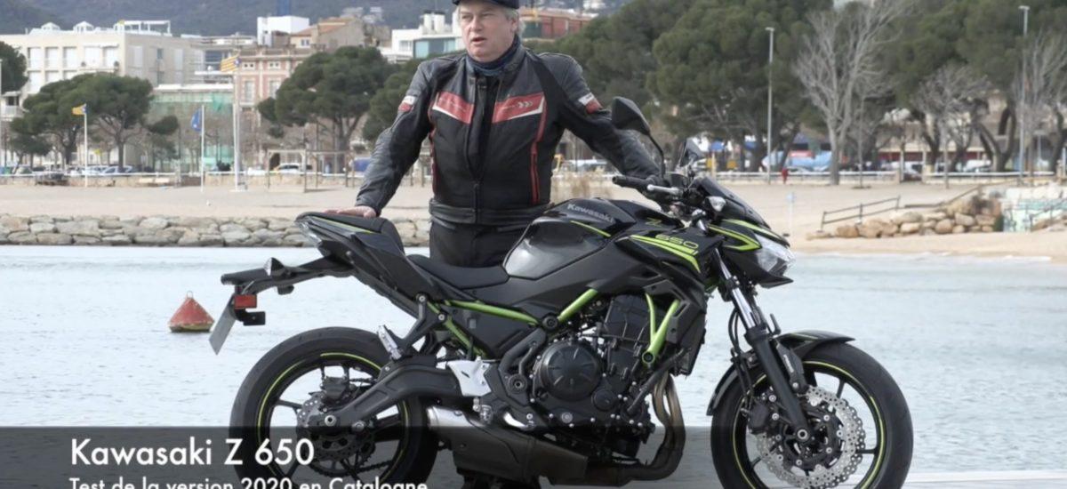 Test de la Kawasaki Z 650 (version 2020) près de Girona