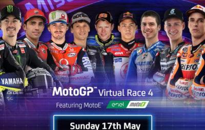 Dominique Aegerter au départ du quatrième GP virtuel de Misano :: e-MotoGP/Moto E