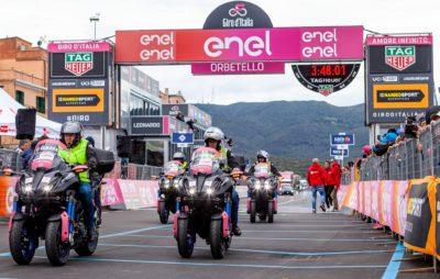 Les Yamaha Niken du Giro d'Italia prêtées à la Croix-Rouge :: Coronavirus