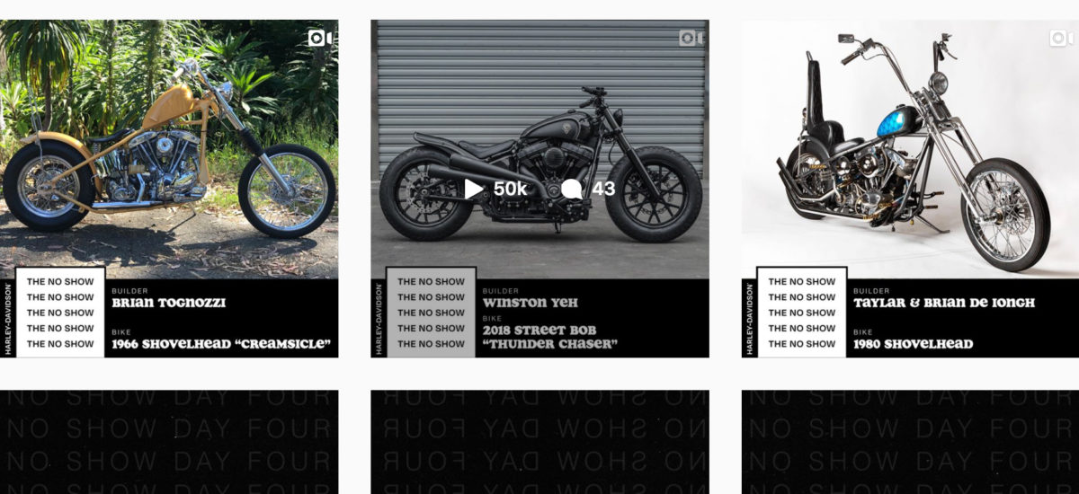 Harley ouvre son Instagram aux customiseurs pour un «No Show»