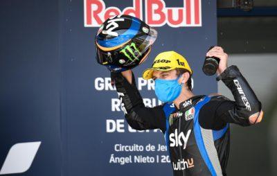 Marini se reprend avec une victoire, Lüthi chute :: Mondial Moto2