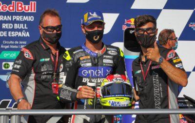 Aegerter sur le podium pour sa première course électrique :: MotoE Jerez