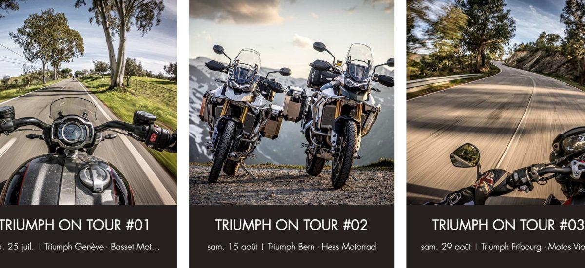Nouveau en Suisse, des rides guidés chez Triumph