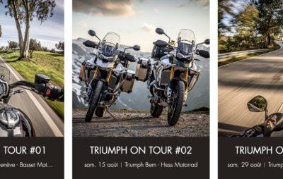 Nouveau en Suisse, des rides guidés chez Triumph :: Balades