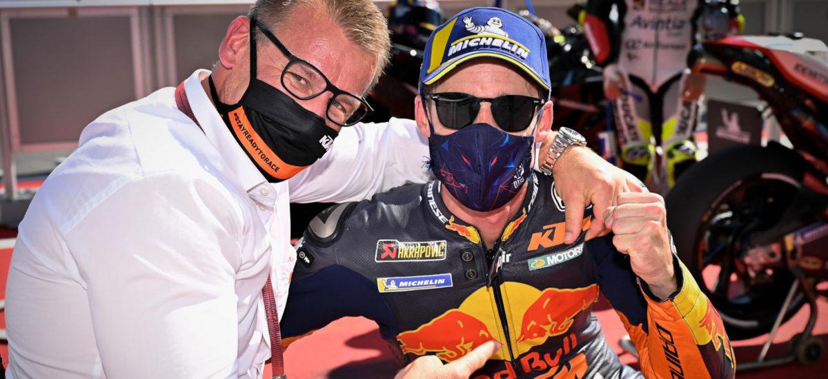Pol Espargaró tient sa première pole position, KTM aussi!