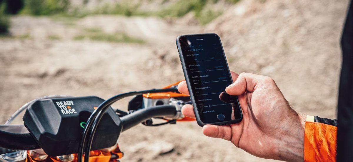 Les réglages de votre moto de cross KTM par smartphone!