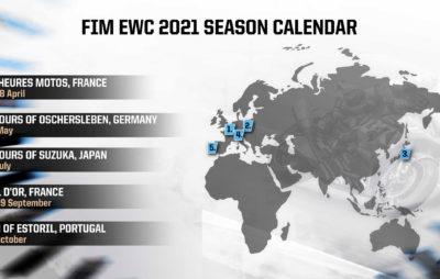 Cinq courses au programme de l'Endurance 2021 :: FIM EWC