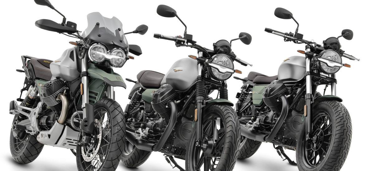Pour son centenaire, Moto Guzzi sort ses V7, V9 et V85 TT en livrée spéciale
