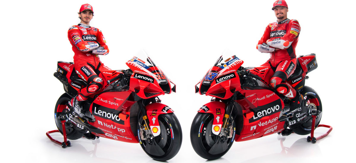 Ducati présente ses pilotes, et son nouveau partenaire principal