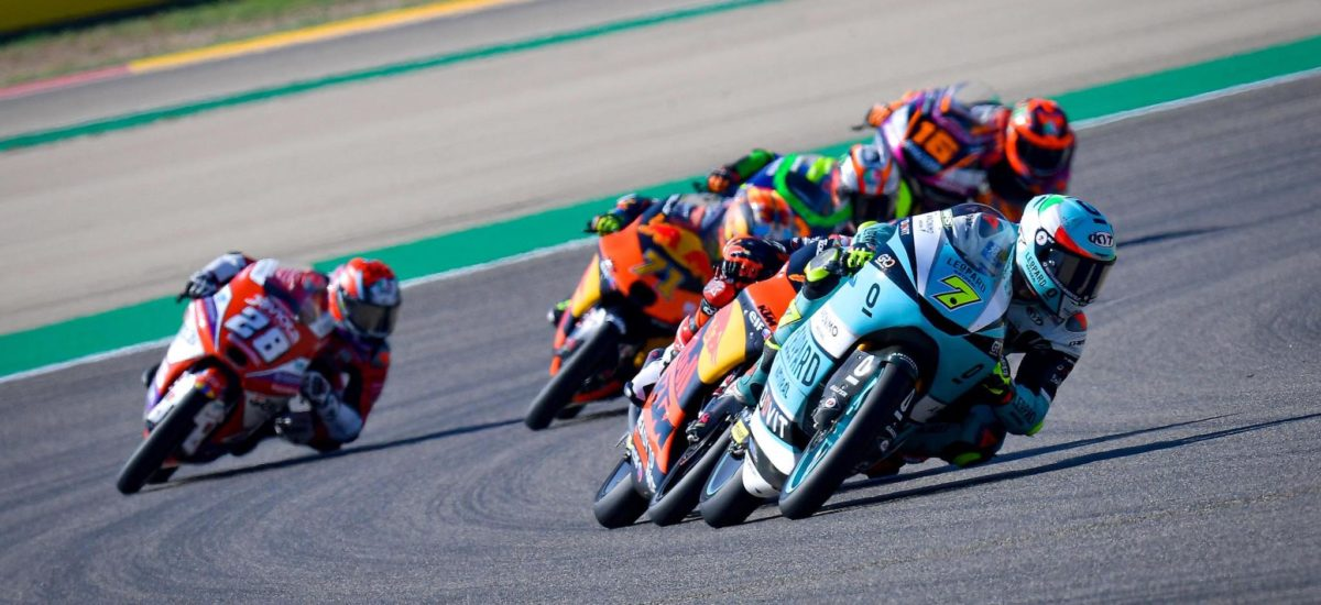 Moto 3 – Dennis Foggia devant Öncü et Sasaki à Aragon